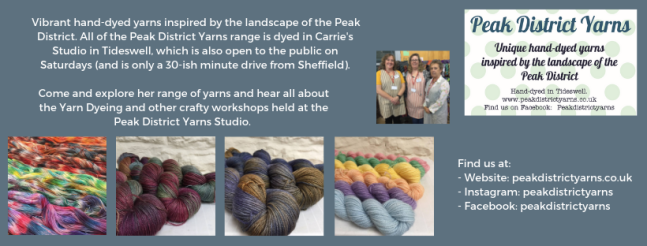 Exhibitor intro for Peak District Yarns, including pictures of the team and their yarns.