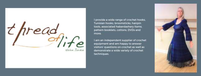 Exhibitor intro for Thread of Life, including a picture and the logo.