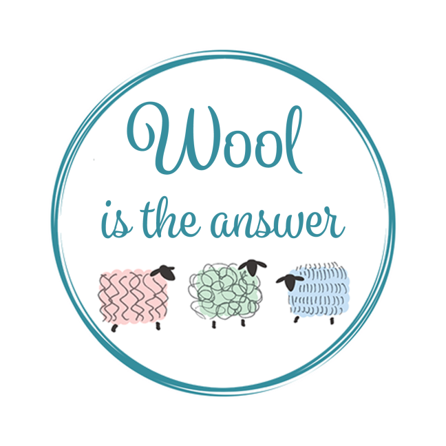 Wool is the answer logo