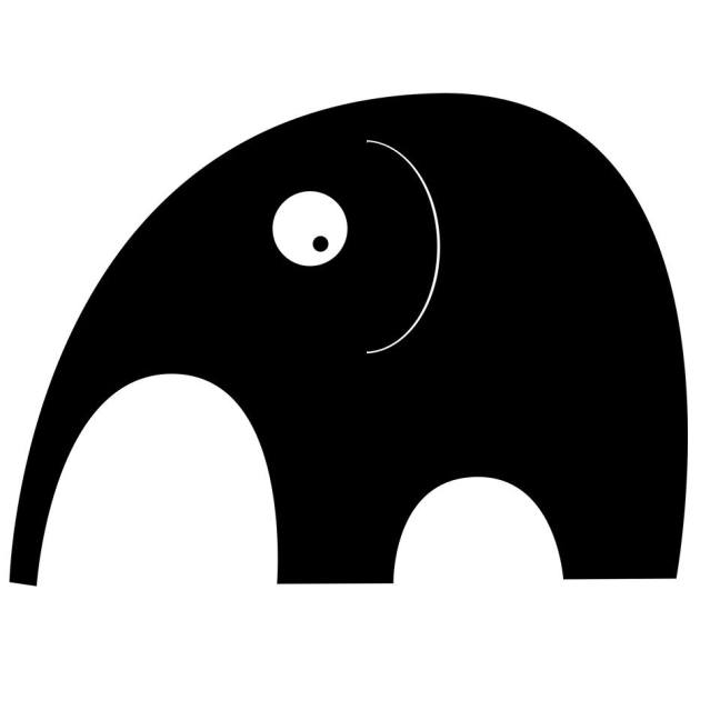 Black Elephant Logo